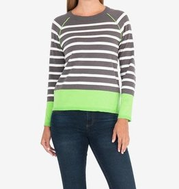 Kut Grey/Lime Pull over Top