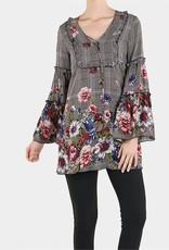 TGB Brands Floral Plaid Tunic