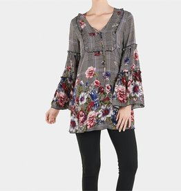 TGB Brands Floral Plaid Tunic
