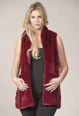 Rain & Rose Faux Fur Vests Burgundy or Mocha