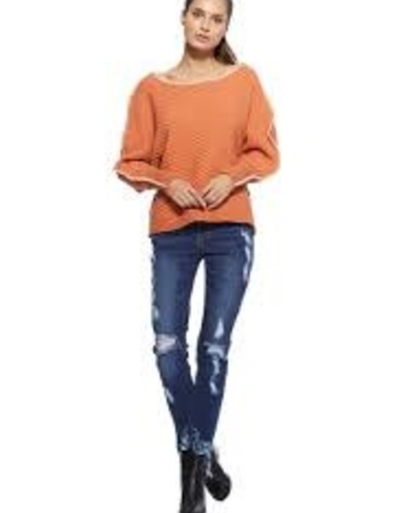 AP Denim Dolman Sleeve Sweater with detail stitching 2 colors