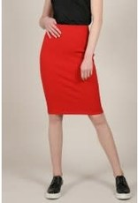 Molly Bracken Red Pencil Skirt with gold zipper in back, Amazing