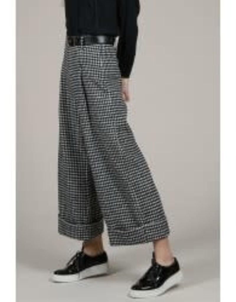 Molly Bracken Black & White Wide Leg Pants