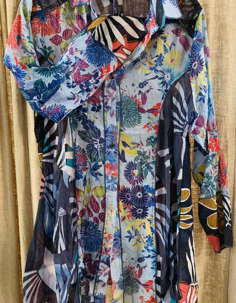 Adore Floral Button Down Top by Adore