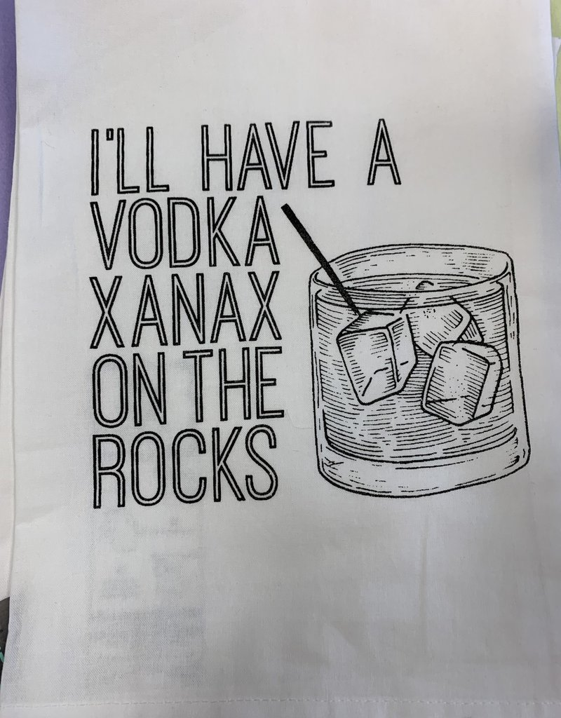 Twisted Wares TW I'll have a vodka xanax on the rocks towel