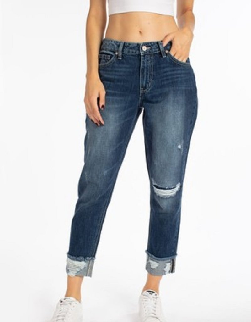 Kan Can High Rise Boyfriend Jeans