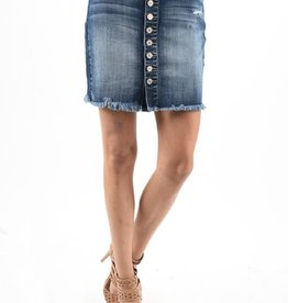 Kan Can Button Up Denim Skirt