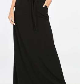 zenana Maxi Skirt with Pockets