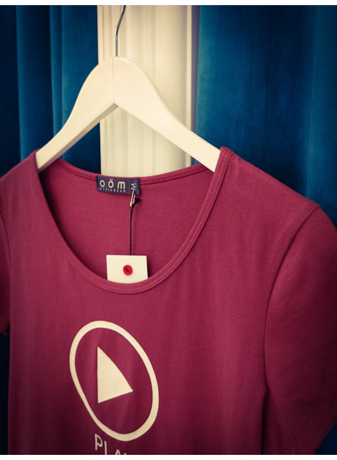 T-Shirt Play - bordeaux