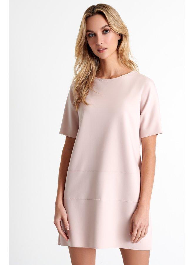 Robe courte en scuba - blush