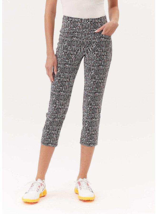 Pantalon- noir coral geo