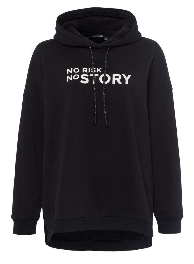 Hoody No Risk No STORY - noir