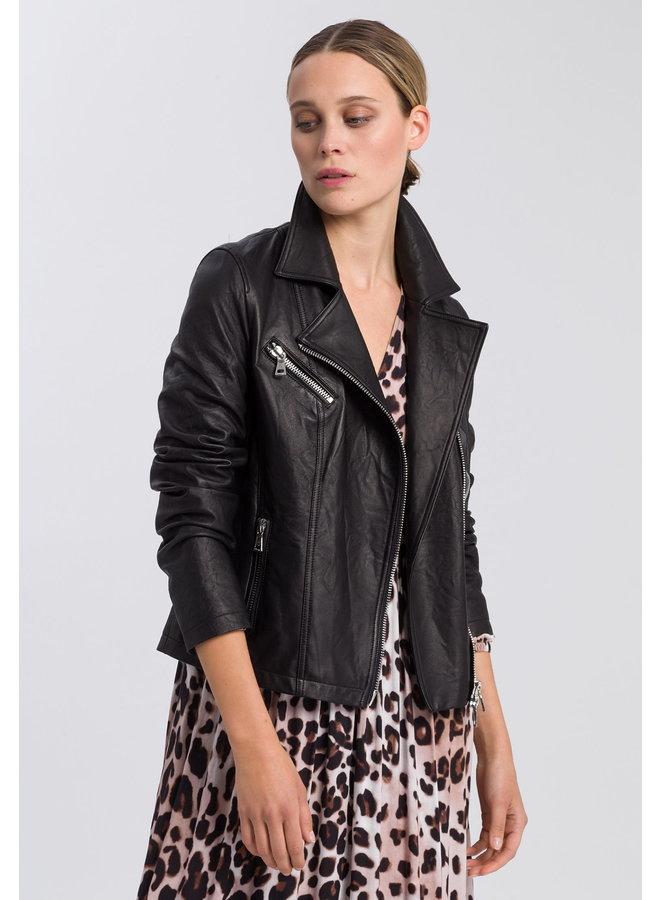 Jacket de cuir - noir