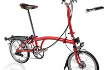 Brompton H6R Red w/reduced gearing, Marathon tires, Shimano Dynamo, Brook's Men's Saddle + Tool Kit