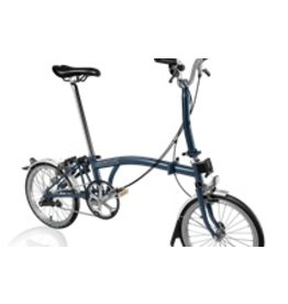 Brompton M3L Tempest Blue w/Marathon Tires & Battery Lighting