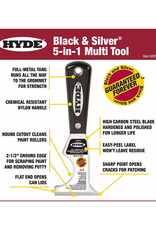 "Hyde 2-1/2"" Black & Silver 5-in-1 Painter Tool"