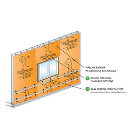 "VaproShield VaproFlashing Self-Adhered (Orange) 11-3/4"" x 164'"