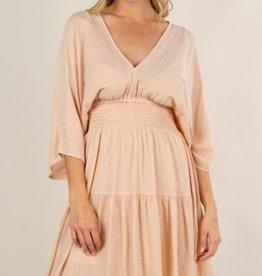 Lovestitch 71507WL Foil Print Kimono Sleeve Dress