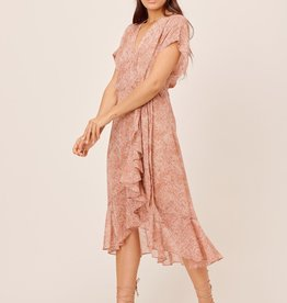 Lovestitch 71859WL Rolled Sleeve Wrap Dress