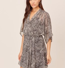 Lovestitch 71881WL Printed Kimono Sleeve Drape Dress