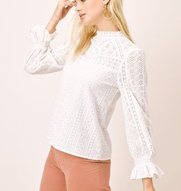 Lovestitch 12710 Eyelet Cotton Long Sleeve As Sized