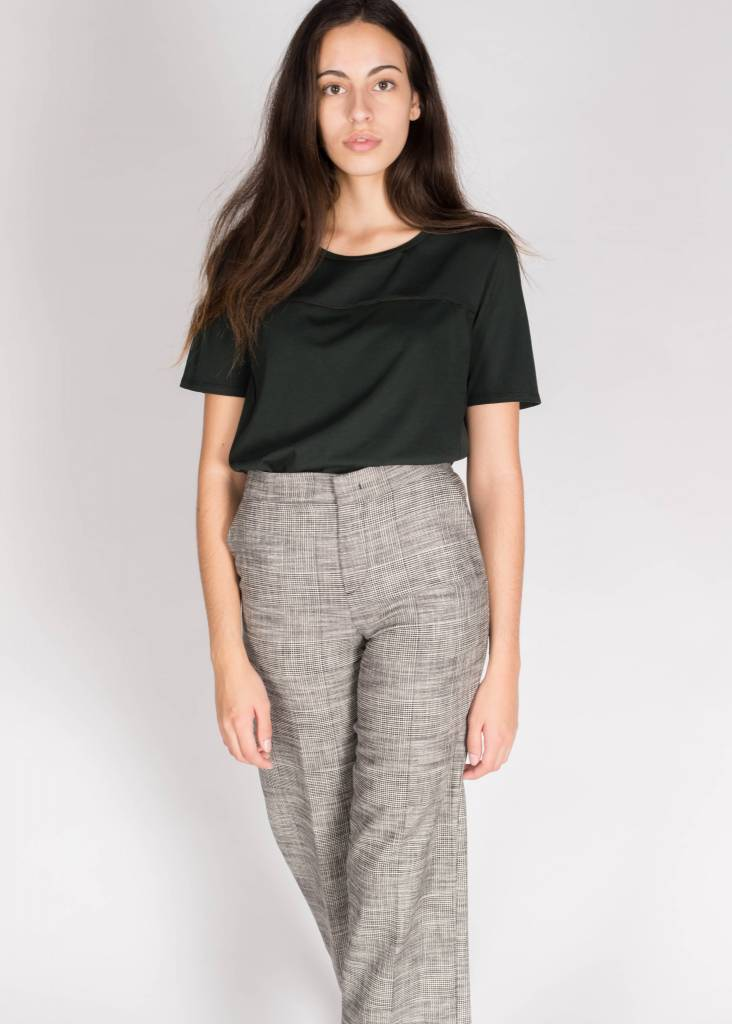 SCOTCH & SODA JERSEY TOP WITH WOVEN PANELS