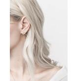 Boucles d'oreilles anneaux 2 tons