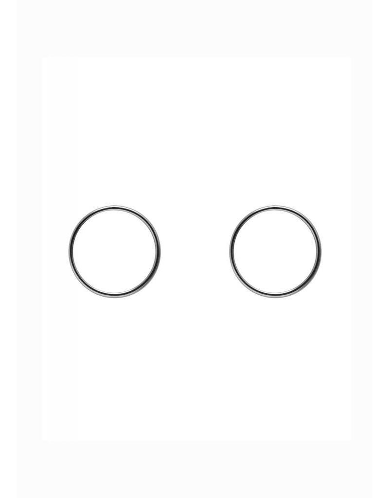 Boucles d'oreilles cercle argent