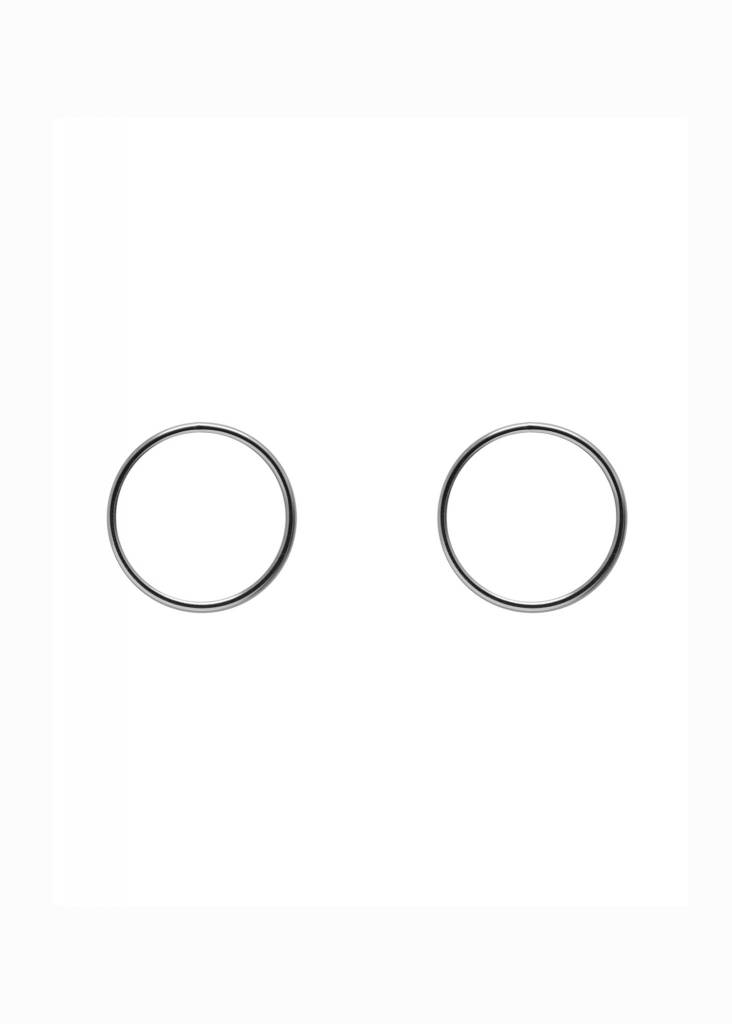 MAKSYM Boucles d'oreilles cercle argent