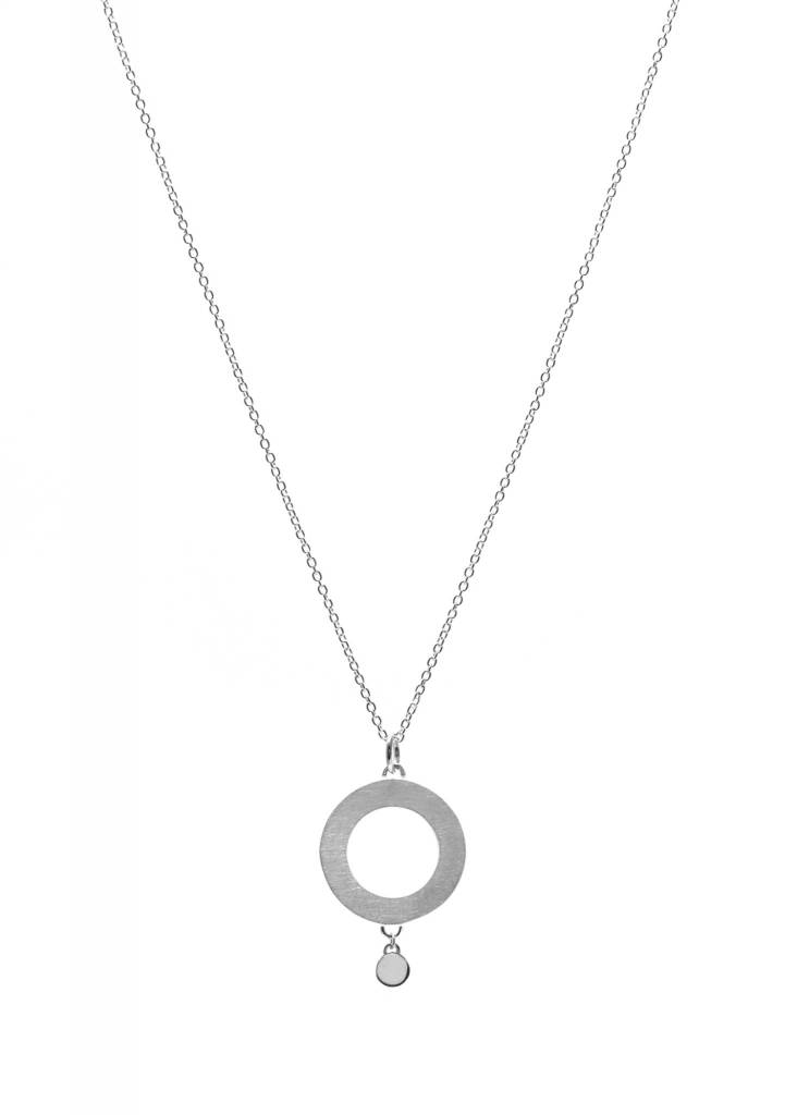 Collier cercle + point