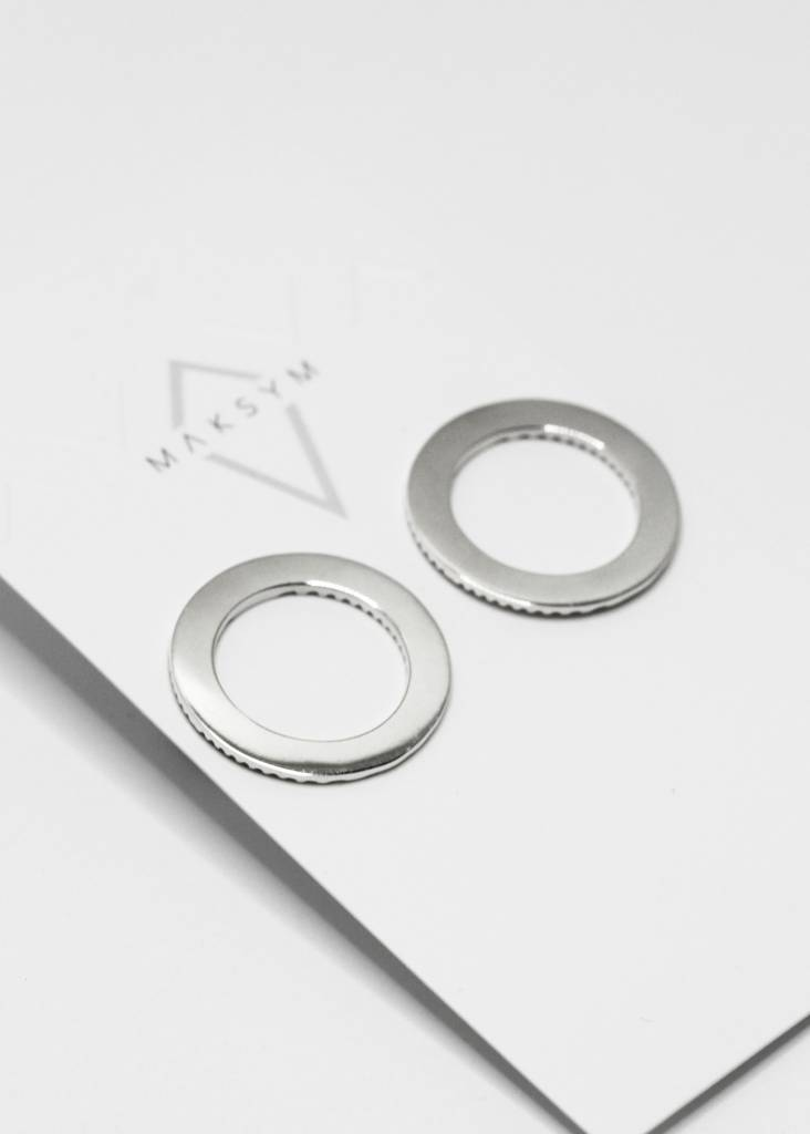 Boucles d'oreilles gros cercle argent poli