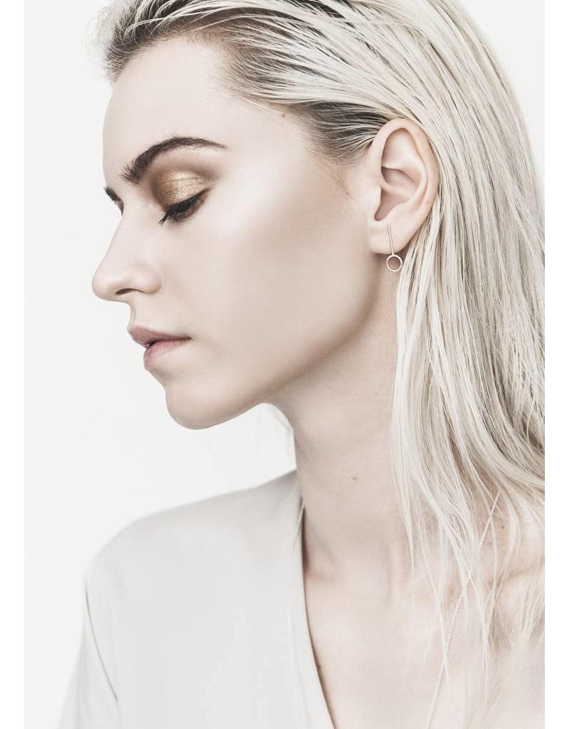 Boucles d'oreilles anneaux barre