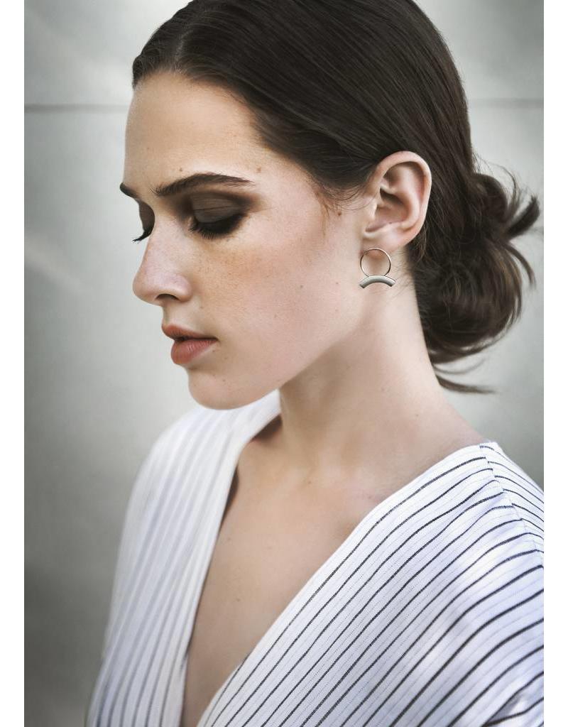 MAKSYM Boucles d'oreilles anneaux + arcs