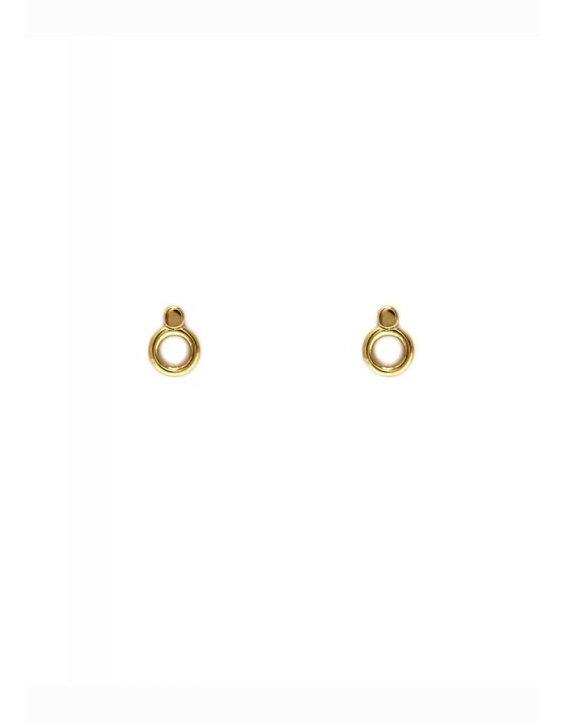 Boucles d'oreilles points cercle or