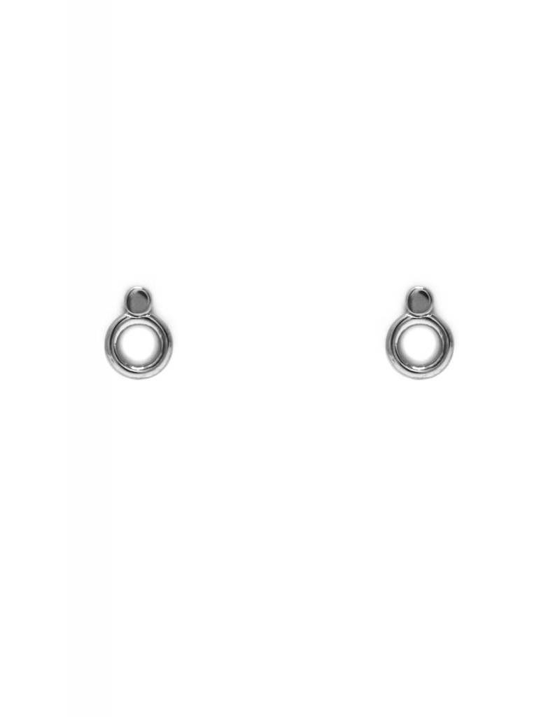 Boucles d'oreilles points cercle argent