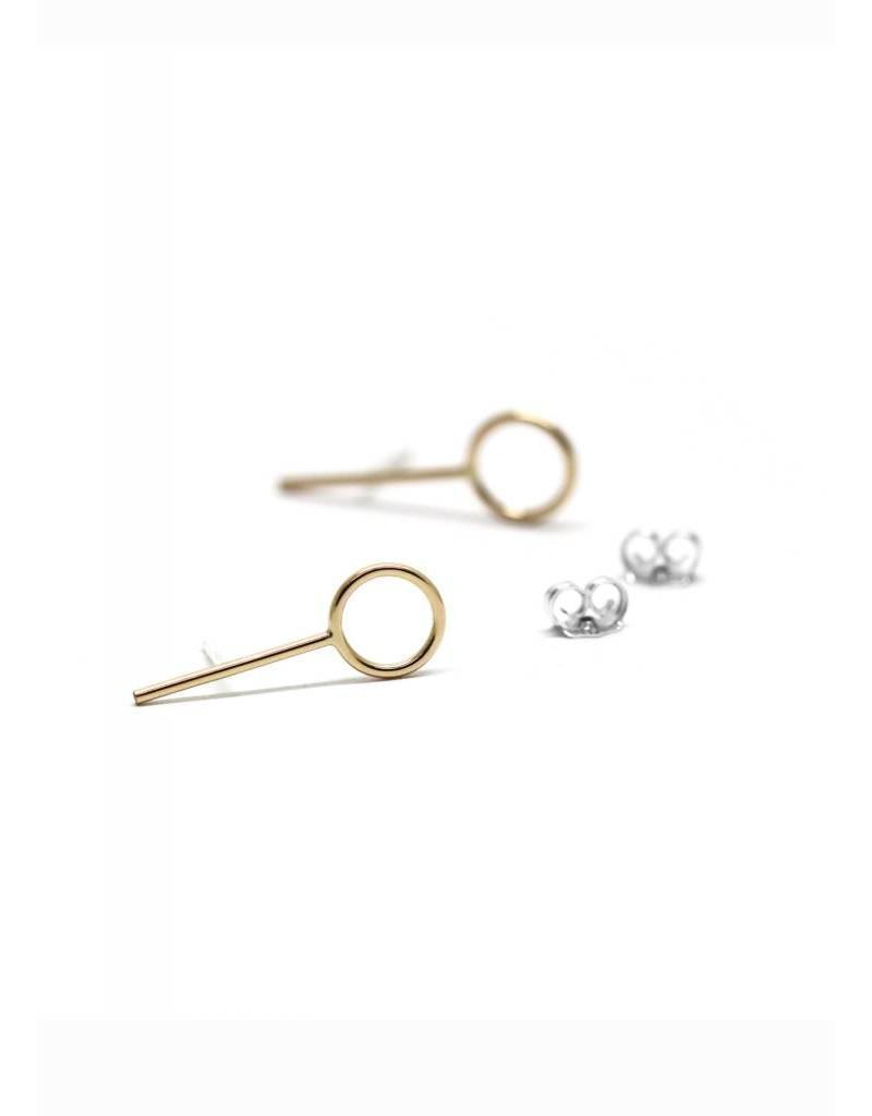 Boucles d'oreilles anneaux barre or