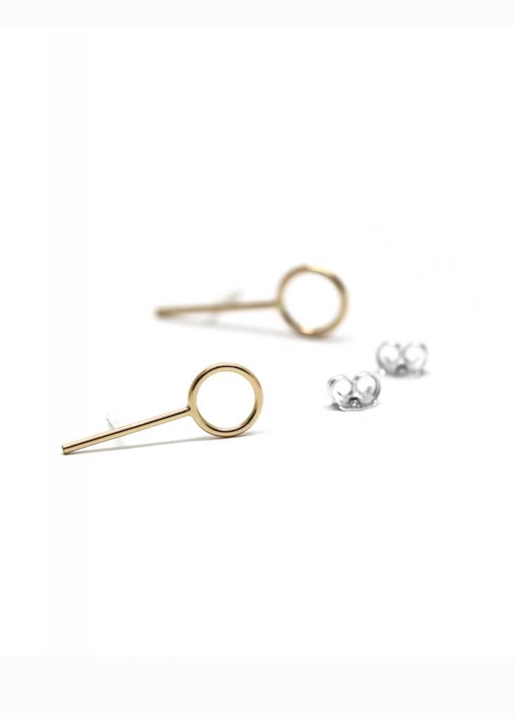 BOUCLE D'OREILLES ANNEAUX BARRE ORBoucles d'oreilles anneaux barre or