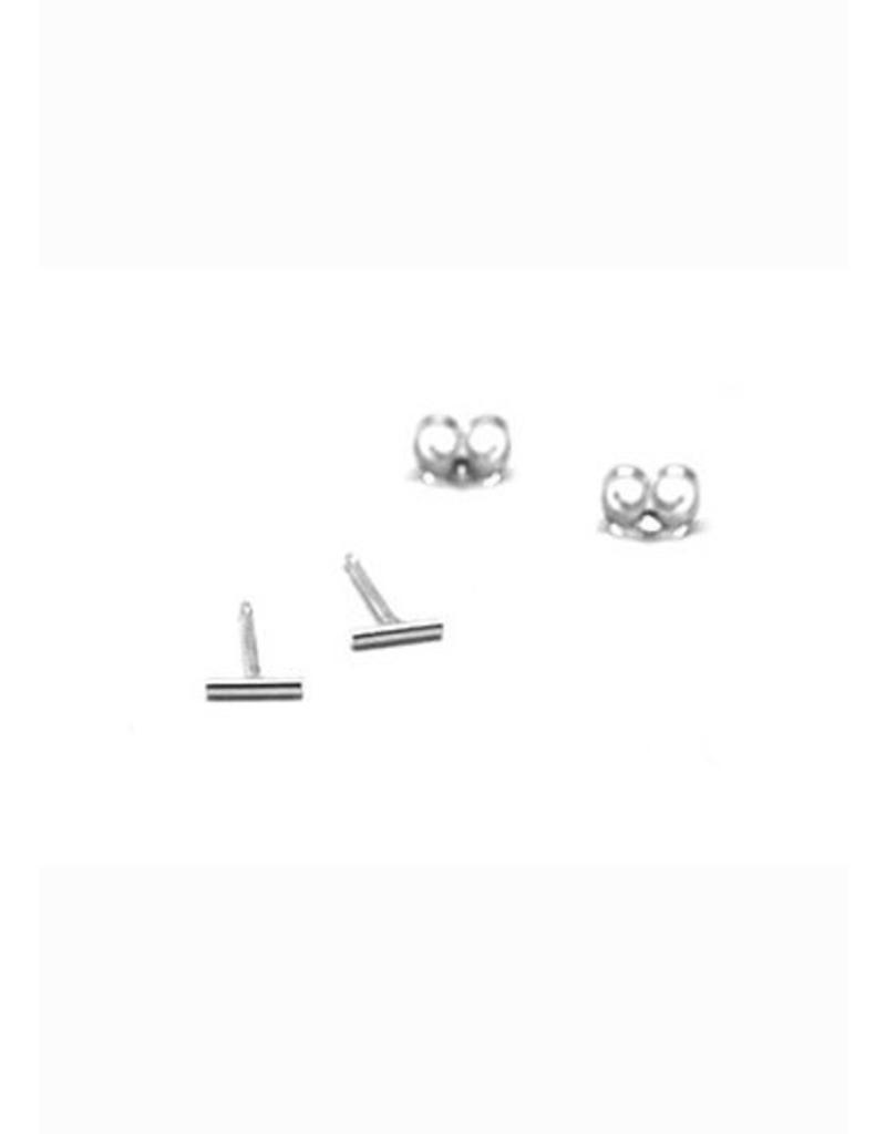 Boucles d'oreilles petite barre argent