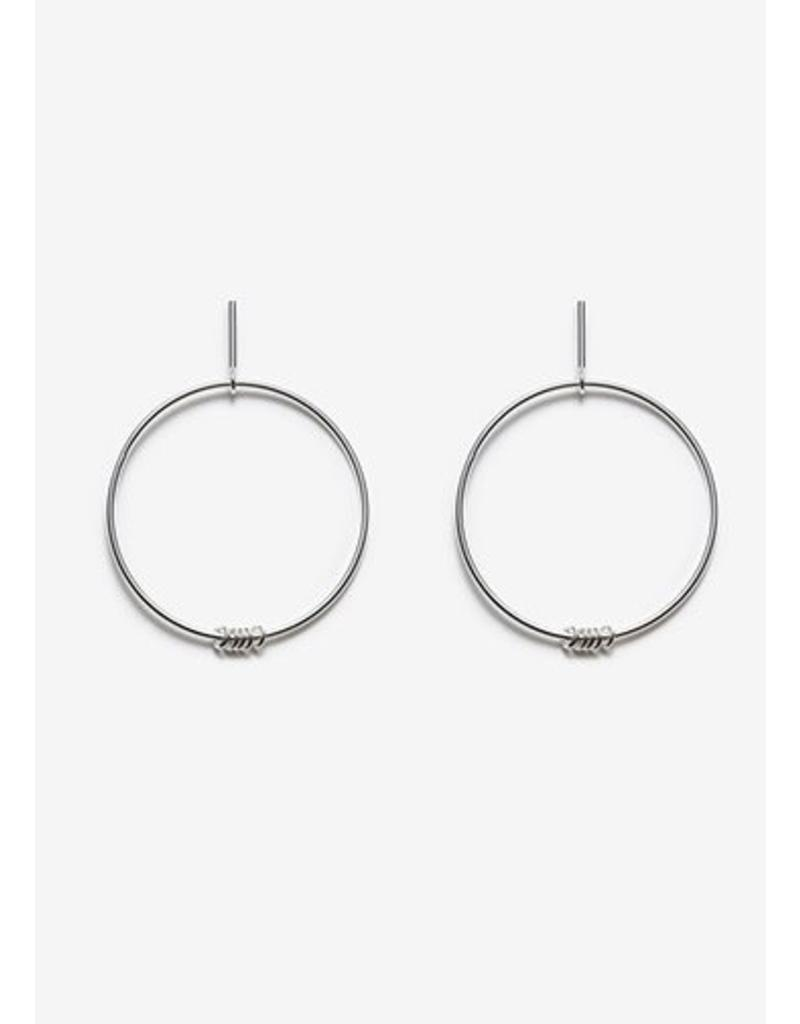 PILAR AGUECI Ilidi earrings silver