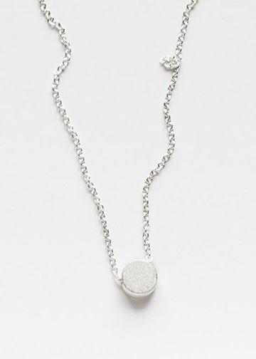 PILAR AGUECI Round shape pendant sandblasted silver