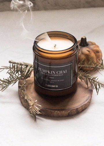 T.Lees Pumpkin chai soy candle