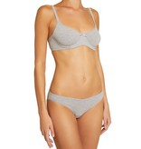 Pima goddess t-shirt bra grey