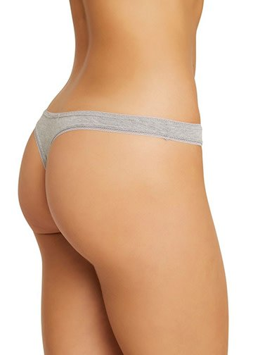 EBERJEY Pima goddess thong grey