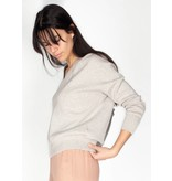 YAYA BOXY VNECK SWEATER GREY