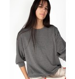 ATHLEISURE 3/4 CUFFED SWEATSHIRT