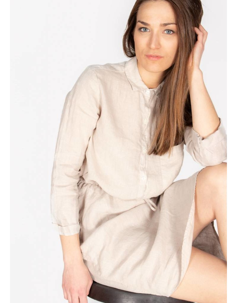 VELVET TRISTANA WOVEN LINEN BUTTON UP DRESS