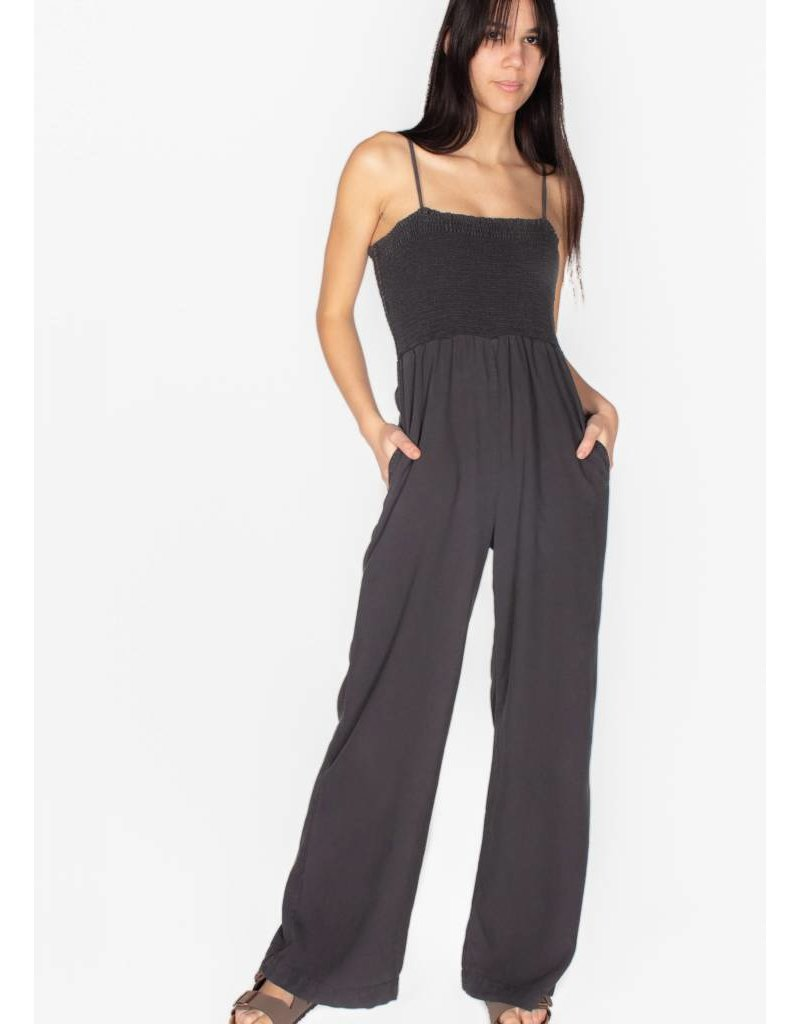 BELLA DAHL ELASTIC SHIRRED JUMPSUIT
