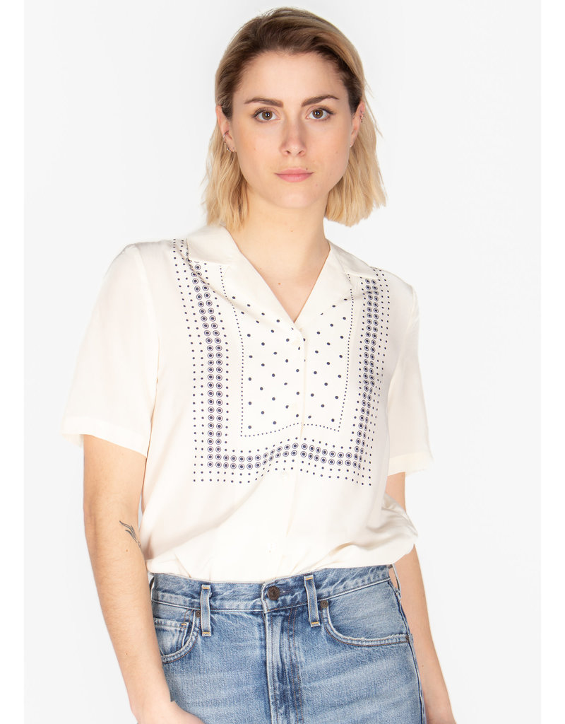 NICE THINGS POSITIONAL DOTS PRINT SHIRT