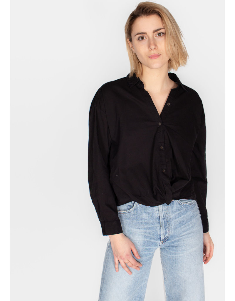 VELVET ASTRID COTTON SHIRTING BUTTON UP