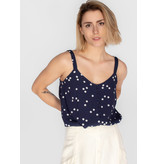 YERSE STRAPPY PRINTED TOP WITH LENED BUTTONS